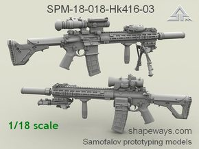 1/18 SPM-18-018-Hk416-03 HK 416 Variant III in Frosted Extreme Detail