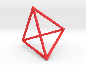 Golden Dawn Tetrahedron in Red Strong & Flexible Polished