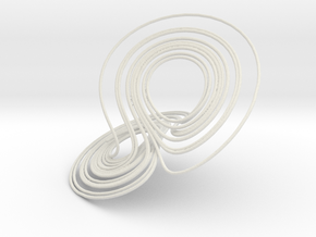 Lorenz Attractor, large in White Strong & Flexible