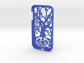 """Samsung Galaxy S4 case """"Tree of life"""" in Blue Strong & Flexible Polished"""