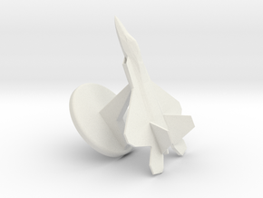 Fighter Jet Display Model in White Strong & Flexible