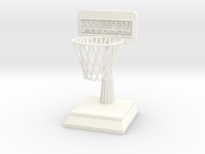 ZooKeepers Trophy in White Strong & Flexible Polished