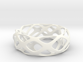 Frohr Design Bracelet 2-10-15-1 in White Strong & Flexible Polished