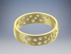 Cheese Ring Size 8 (18) in 14K Gold
