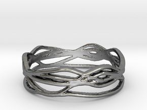 Ring Design 01 Ring Size 8.5 in Polished Silver