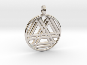 RESONANT TRINITY in Rhodium Plated