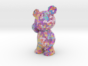 Thinking Bear - pink voronoi in Full Color Sandstone