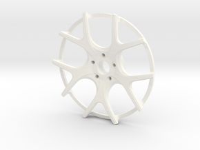 Twin Five Spoke Wheel Face in White Strong & Flexible Polished