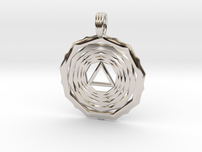 SOLAR VORTEX in Rhodium Plated