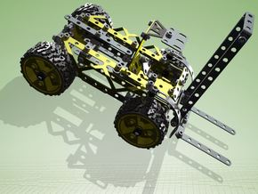 Meccano forklift in Black Strong & Flexible