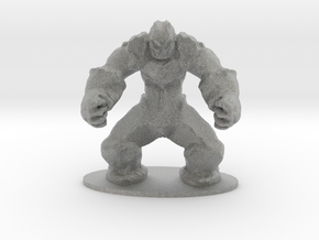 Rock Golem Earth Elemental Miniature in Metallic Plastic