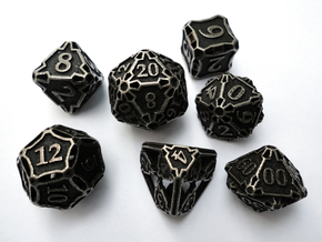 Large Dice Set with Decader in Stainless Steel