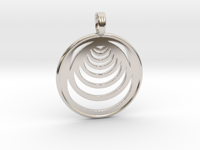 MOON PHASES in Rhodium Plated