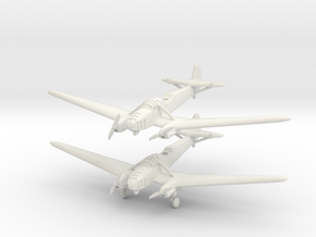 Focke-Wulf Fw.58 (2 airplanes) 1/285 6mm in White Strong & Flexible