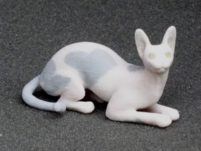 Laying Blue Sphynx in Full Color Sandstone