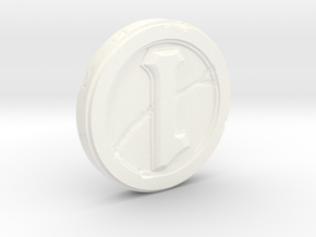 Hearthstone Coin Replica in White Strong & Flexible Polished