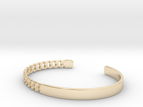 Chain Bangle in 14k Gold Plated