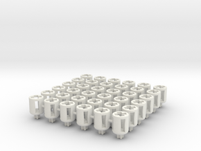 Flight Stand Bush for Lego Axles (x36) in White Strong & Flexible