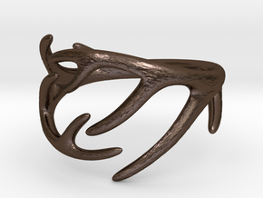 Antler Ring No.2(Size 8) in Polished Bronze Steel