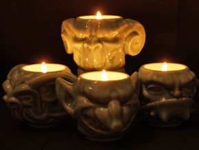 Goblin Totem Cup 3 in Gloss Celadon Green Porcelain