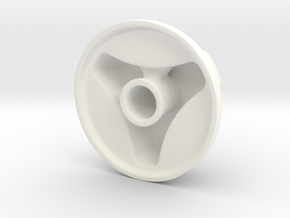Knob Simple 3-lobe in White Strong & Flexible Polished