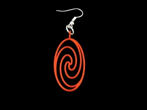 Quark Pendant - Spiral (1oW95T) in Red Strong & Flexible Polished