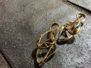 gold earrings : { i } 002 SMALL in Polished Brass