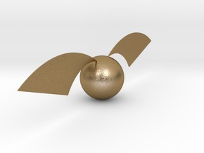 Harry Potter's Golden Snitch in Polished Gold Steel