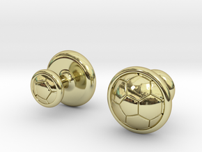 SOCCER CUFFLINKS 1 in 18k Gold Plated