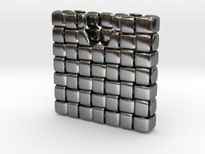 WOV Business Card Case - for MOO Square Cards in Polished Silver