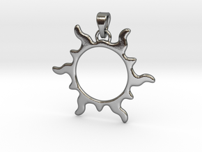 SunPendant in Polished Silver