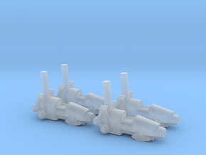 ENTERPRISE NX01 SET OF 4 PHASE CANNON in Frosted Ultra Detail