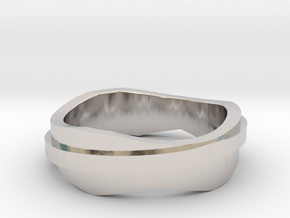 land / AIR in Rhodium Plated