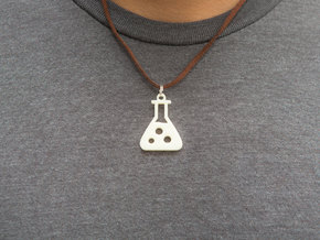 Chemistry Pendant in White Acrylic