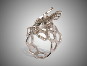 Western Honey Bee Ring (Sizes 5-12) in Premium Silver