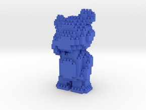 Teddy Bear - Nano Block in Blue Strong & Flexible Polished