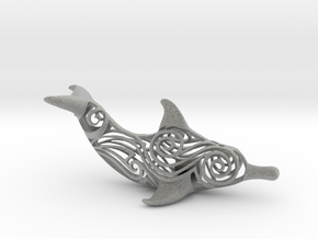 Tribal Dolphin  in Metallic Plastic