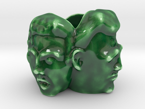 Pot Heads in Gloss Oribe Green Porcelain