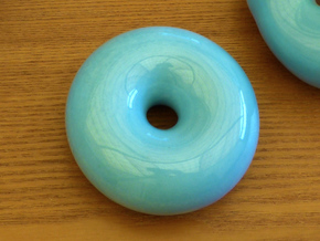 Topology joke (porcelain) step 7 in Gloss Blue Porcelain