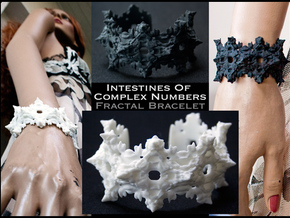 Intestines of Complex Numbers - Bracelet in White Strong & Flexible Polished