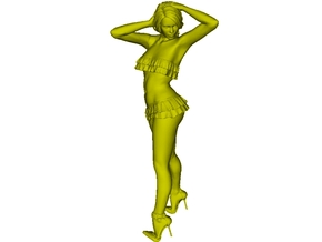 1/35 scale nose-art striptease dancer figure A in Frosted Ultra Detail