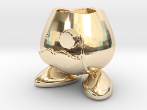 Monocle Planter Guy in 14K Gold