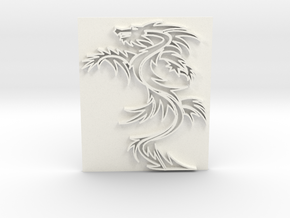 Dragon1 in White Strong & Flexible Polished