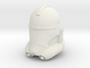 "Clone Trooper Helmet 3"" in White Strong & Flexible"