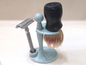 Combo Razor and Brush Stand in Gloss Celadon Green Porcelain