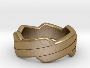Happy ring in Polished Gold Steel