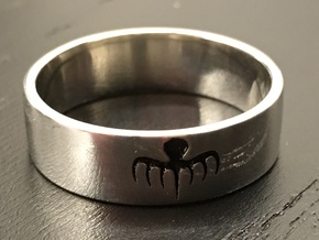 Spectre Ring - Size 11 in Raw Silver