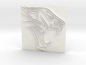 Tiger2 in White Strong & Flexible Polished
