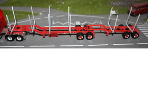 100a 102a Logger Trailer HO 1:87 B Double Set in White Strong & Flexible