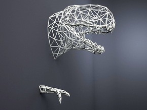 T-rex wall SMALL in White Strong & Flexible